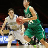 "Lorenzo Chavez (right), of Mora, gets past (left) Devon Rice of Mesilla Valley during a boys basketball game in the Arthur ""DINTY"" Romero Basketball Tip-Off Classic held at the Pit in Albuquerque, N.M. on Nov. 18, 2011.  <br /> Natalie Guillén/The New Mexi"
