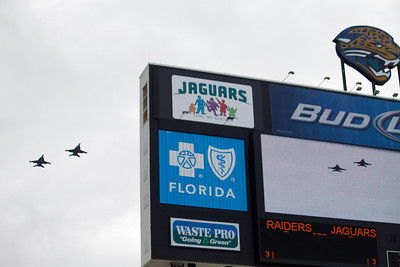 "Today's flyover, the ""Vikings"" of Electronic Attack Squadron One Two Nine (VAQ-129), flying EA-18G Growlers."