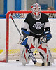 Kyle playing goalie