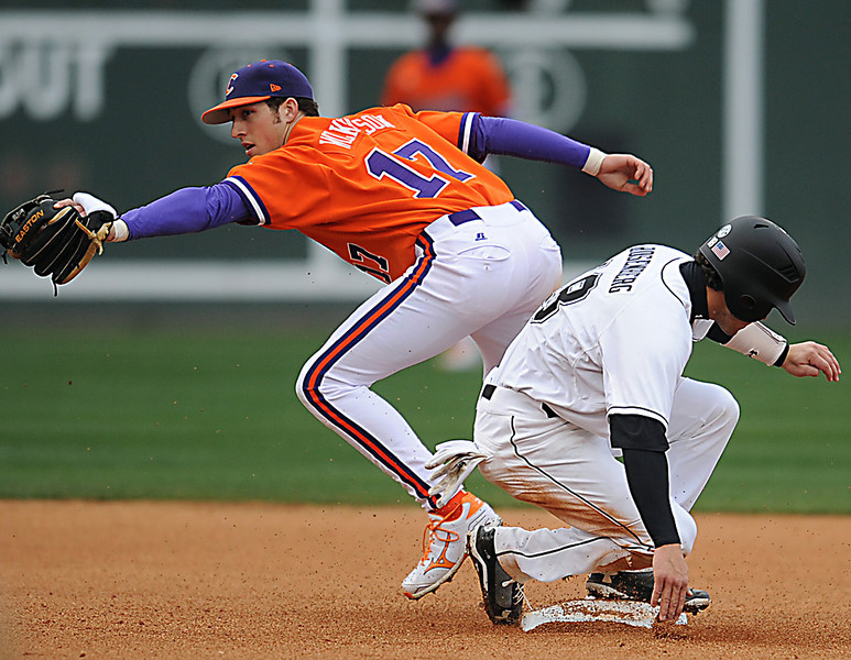 The South Carolina Gamecocks and the Clemson Tigers resume their baseball rivalry at Fluor Field in Greenville.<br /> GWINN DAVIS PHOTOS<br /> gwinndavisphotos.com (website)<br /> (864) 915-0411 (cell)<br /> gwinndavis@gmail.com  (e-mail) <br /> Gwinn Davis (FaceBook)
