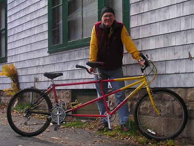 Gary Fisher Tandem, first test ride, oct 2, 2009.