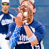 Record-Eagle/Brett A. Sommers <br /> <br /> Gaylord St. Mary shortstop Adam Nowicki catches a popup during Tuesday's Division IV baseball quarterfinal against Norway at St. Elizabeth Ann Seton Middle School in Traverse City. The Snowbirds won 6-2.