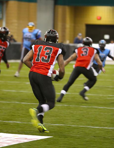 Player 13 Running the Ball