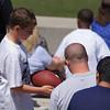 Eagle great Jaybo Shaw signing a football for my boy. Thanks Jaybo!