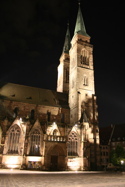 Church from the 11th Century in the center of Nuremberg.