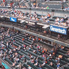 """Our suite seats were under the """"Full Throttle"""" sign."""