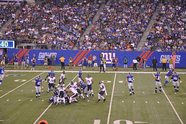 Giants vs Bears 2012