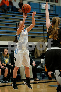 Cascade  High School player Short Dixie  (0) connects on her 1,000th career point of the Cadets during the game between Speedway vs  Cascade  at  Cascade High School in Clayton,IN. (Jeff Brown/Flyer Photo)
