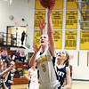 Record-Eagle/Keith King<br /> Traverse City Central's Ali Walker puts up a shot against Traverse City St. Francis Tuesday, February 14, 2012 at Traverse City Central High School.