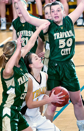 Record-Eagle/Douglas Tesner<br /> <br /> Girls Basketball TCW vs TCC