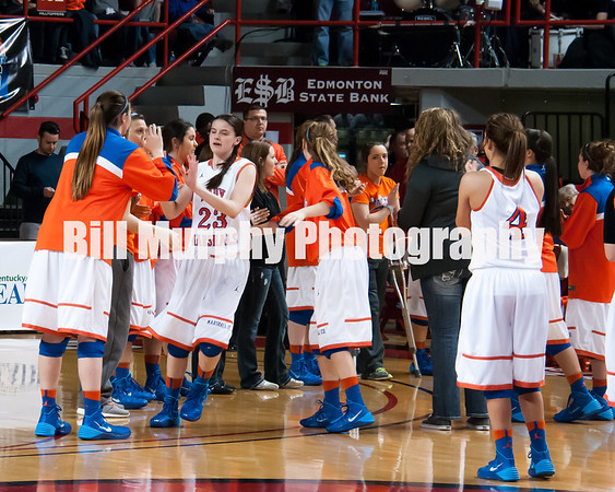 2014 KY Girls State Basketball Tournament, March 14, 2014, Marshall County Lady Marshals vs. Clark County. Lady Marshals Lost 37-45.