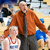 West Noble Chargers assistant coach Gene Teel reacts to a call during Tuesday's game at West Noble High School in Ligonier.