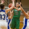 SAM HOUSEHOLDER | THE GOSHEN NEWS<br /> Concord senior Alexis Williams shoots the ball against Elkhart Central Tuesday during the sectional game at Northridge High School.