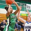 SAM HOUSEHOLDER | THE GOSHEN NEWS<br /> Concord freshman Justyce Warren shoots the ball against Elkhart Central Tuesday during the sectionall game at Northridge High School.
