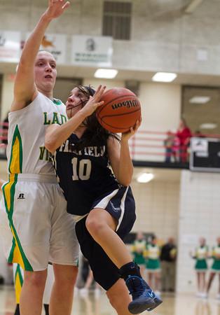 SAM HOUSEHOLDER | THE GOSHEN NEWS<br /> Fairfield senior Brooke Mast goes up for a shot against Tippecanoe Valley Wednesday at NorthWood High School.