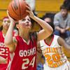 SAM HOUSEHOLDER | THE GOSHEN NEWS<br /> Goshen junior Leslie Vanlandingham during the game against Elkhart Memorial Friday.
