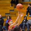 SAM HOUSEHOLDER | THE GOSHEN NEWS<br /> Goshen senior Deja Felder shoots the ball Friday during the game against Elkhart Memorial.