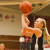 SAM HOUSEHOLDER | THE GOSHEN NEWS<br /> Wawasee junior Courtney Linnemeier shoots the ball during the game against Goshen Friday.