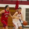 SAM HOUSEHOLDER | THE GOSHEN NEWS<br /> Goshen sophomore Aylissa Trosper drives past West Noble senior Shawna Young during the game Tuesday.