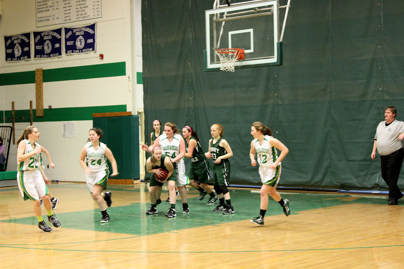 Kaitlynne Basketball vs Scarborough w Mars  & Some JV 217