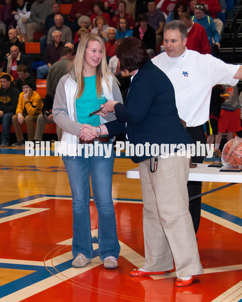 Fourth District Girls Basketball Awards Ceremony, February 27, 2014.