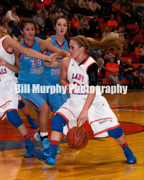 Fourth District Semifinal Marshall County Girls Basketball vs. Calloway County, February 25, 2014. Lady Marshals Won 65-51.