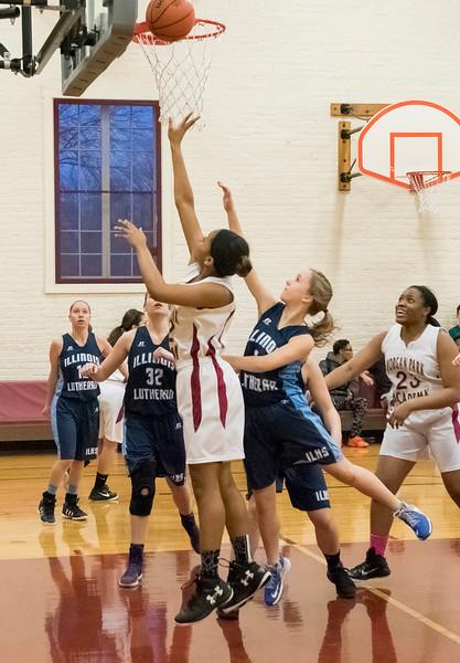 GIRLS BASKETBALL VS ILL LUTHERAN 1-8-16
