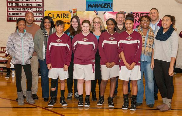 Girls' Basketball Senior Night vs. U-High