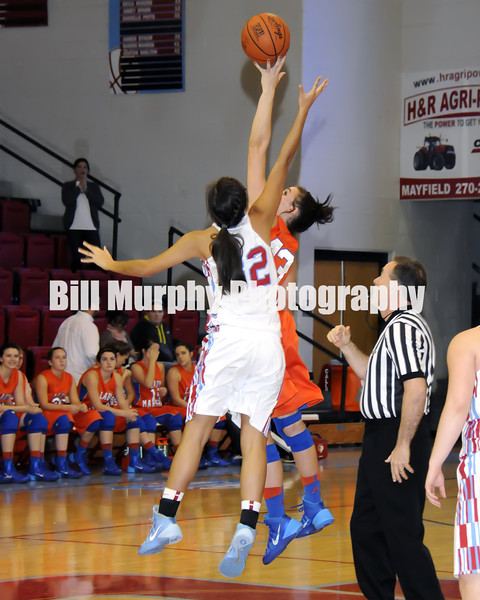 Marshall County Girls Varsity Basketball vs. Calloway County, January 10, 2014. Lady Marshals Won 53-49.
