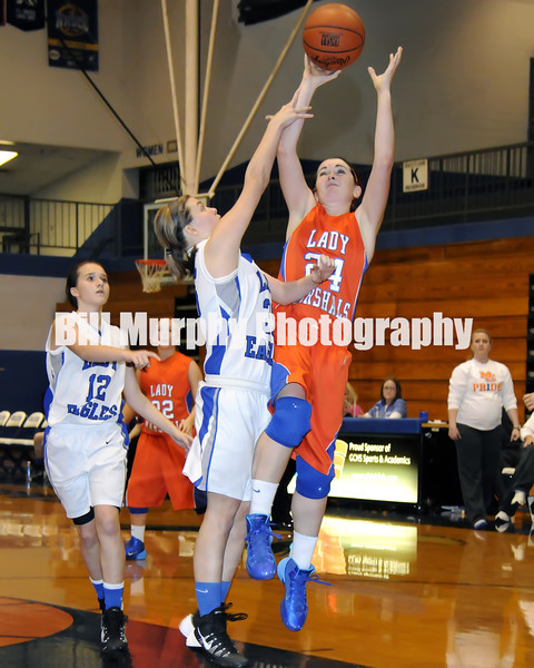 Marshall County High School Girls Freshman Basketball vs. Graves County, January 6, 2014. Lady Marshals Won 51-49.