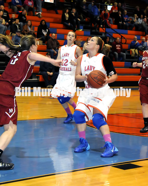 Marshall County Girls Varsity Basketball vs. McCracken County, January 24, 2014. Lady Marshals Won 54-27.