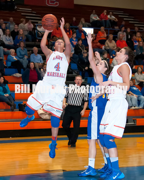 Marshall County Girls Varsity Basketball vs. St.Mary's, February 15, 2014. Lady Marshals Won 71-49.