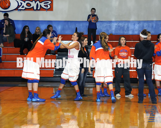 Marshall County Girls Varsity Basketball vs. Murray, February 8, 2014. Lady Marshals Lost 45-40.