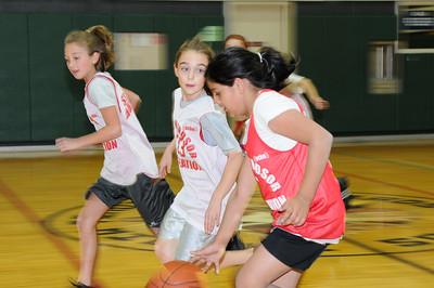 South Windsor Junior Girls Basketball, 2008-12-13, Falcons vs Huskies