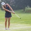 Lakeland Lakers Madison Keil chips the ball onto the putting green during the Goshen Girls Golf Invitational Monday morning at Black Squirrel Golf Club in Goshen.