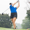 Elkhart Lions Natalie Wolschlager drives the ball during the Goshen Girls Golf Invitational Monday morning at Black Squirrel Golf Club in Goshen.