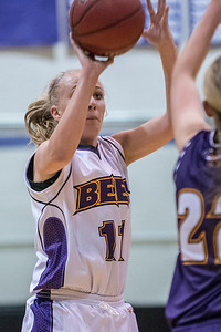 Keslee Stevenson (11) plays in the Inter-squad scrimmage game for Box Elder High School girls basketball team. She has recently signed a scholarship offer to play at Dixie State. Scrimmage game played on November 18, 2016 in Brigham City.