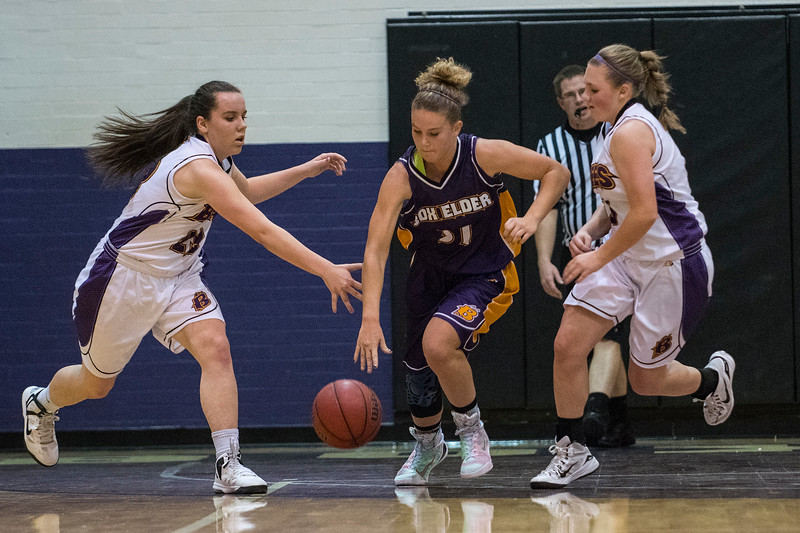 Inter-squad scrimmage game for Box Elder High School girls basketball team. Box Elder has four returning starters on this year's team and is one of the favorites in Region 5 in Brigham City on November 18, 2016.