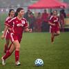 SAM HOUSEHOLDER | THE GOSHEN NEWS<br /> Goshen senior midfielder Jessica Oyer dribbles the ball during the regional game against Warsaw Wednesday.