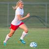 SAM HOUSEHOLDER | THE GOSHEN NEWS<br /> Westview junior Karyassa Davis dribbles the ball during the game against Elkhart Memorial Tuesday.