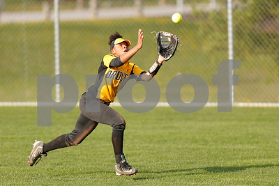 Avon High School freshman Tiara Edwards (2) makes a nice running catch for the out during the game between Avon vs Ben Davis  at  Ben Davis High School in Indianapolis,IN. (Jeff Brown/Flyer Photo)