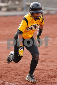 Avon High School freshman Tiara Edwards (2) beats out the throw for a infield hit during the game between Avon vs Ben Davis  at  Ben Davis High School in Indianapolis,IN. (Jeff Brown/Flyer Photo)