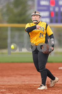 Avon High School senior Amy Miller (24) fires the pitch to the plate during the game between Avon vs Ben Davis  at  Ben Davis High School in Indianapolis,IN. (Jeff Brown/Flyer Photo)