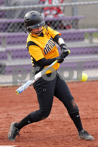 Avon High School senior Gracie Woodyard (27) connects for a double and drives in a run during the game between Avon vs Ben Davis  at  Ben Davis High School in Indianapolis,IN. (Jeff Brown/Flyer Photo)