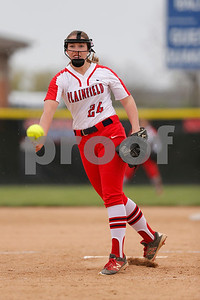 Plainfield High School pitcher Valerie Priar  (24)got rocked for 13 runs during the inning and two thirds on the mound during game between Martinsville vs Plainfield at  Plainfield  High School in Plainfield,IN. (Jeff Brown/Flyer Photo)
