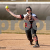 Danville Warrior second baseman Abby Yarnell (12) makes the throw to first for the out during the  game between the Southmont Mounties and Danville Warriors at Danville High School in Danville,IN. (Jeff Brown/Flyer Photo)