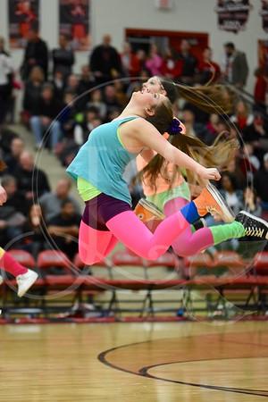 Lakota West Dance Team - West/East Game - 2.13.15