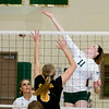 Record-Eagle/Keith King<br /> Traverse City West's Tayler Rodes hits the ball against Traverse City Central Wednesday, October 6, 2010 at Traverse City West Senior High School.