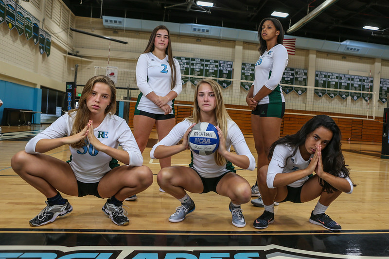 Ransom Everglades Volleyball Team Photo Shoot