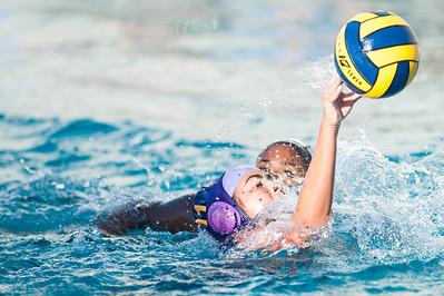 Kayla Girl with her Salinas High School Cowboys JV Ladies Water Polo team defeats Everett Alvarez High